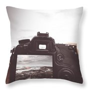Beach Digital Photography Throw Pillow