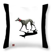 Beach Dog Throw Pillow
