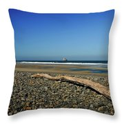 Beach Driftwood Throw Pillow