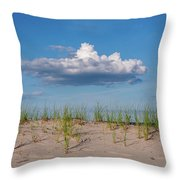 Beach Dune Clouds Jersey Shore Throw Pillow