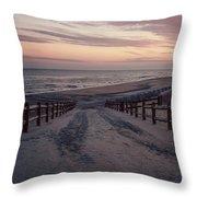 Beach Entrance Lbi New Jersey Vintage  Throw Pillow