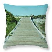 Beach Entrance Throw Pillow