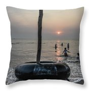 Beach Evenings Throw Pillow