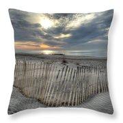Beach Fence Throw Pillow