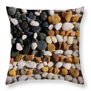 Beach Flag Throw Pillow