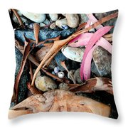 Beach Flotsam Throw Pillow