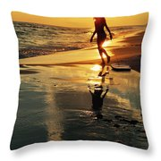 Beach Fun 2 Throw Pillow