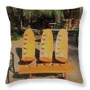 Beach Furniture Throw Pillow