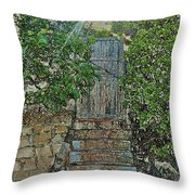 Beach Gate In The Morning Throw Pillow