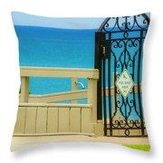 Beach Gate Throw Pillow