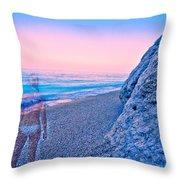 Beach Ghost Throw Pillow
