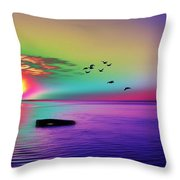 Beach Girl 3 Throw Pillow