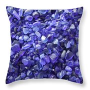 Beach Glass - Blue Throw Pillow