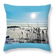 Beach Glow Throw Pillow