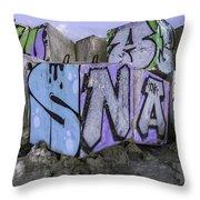 Beach Graffiti  Throw Pillow