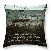 Beach Grass Oats Isaiah 11 Throw Pillow