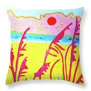 Beach Grasses Throw Pillow