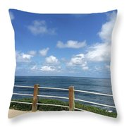 Beach Horizon Throw Pillow