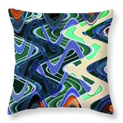 Beach Hotel Abstract 8102-3 Throw Pillow