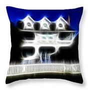 Beach House Fractal Throw Pillow