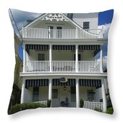 Beach House Panel 2 From Triptych Throw Pillow
