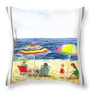 Beach House Window Throw Pillow
