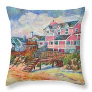 Beach Houses At Pawleys Island Throw Pillow