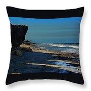 Beach Hutchinson Island, Fl Throw Pillow