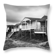 Beach Huts North Norfolk Uk Throw Pillow