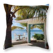 Beach In Grand Turk Throw Pillow