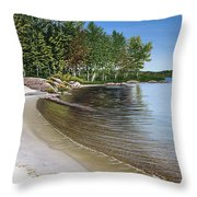 Beach In Muskoka Throw Pillow