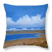 Beach In Norfolk, England Throw Pillow