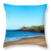 Beach In The Galapagos Throw Pillow