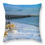 Beach La Tranche Sur Mer Throw Pillow