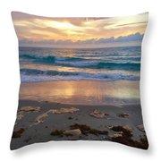 Beach Layers Throw Pillow
