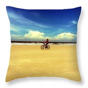 Beach Life On Daytona Beach Throw Pillow