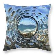 Beach Life Through The Looking Glass Throw Pillow