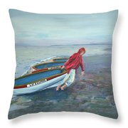 Beach Lifeguard Throw Pillow