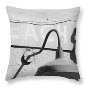 Beach Light Throw Pillow