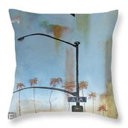 Beach Lights Throw Pillow