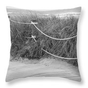 Beach Lines Throw Pillow