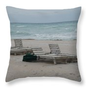 Beach Loungers Throw Pillow