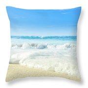 Beach Love Summer Sanctuary Throw Pillow
