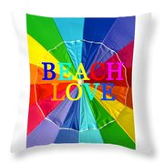 Beach Love Umbrella Spca Throw Pillow