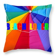 Beach Lover Throw Pillow