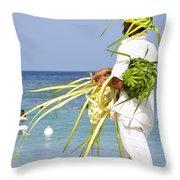 Beach Man Throw Pillow