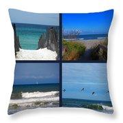Beach Multiples Throw Pillow by Susanne Van Hulst