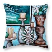 Beach Nautical Decor Throw Pillow by Elizabeth Robinette Tyndall