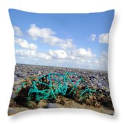 Beach Net Throw Pillow