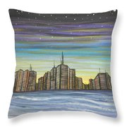 Beach Night Life Throw Pillow